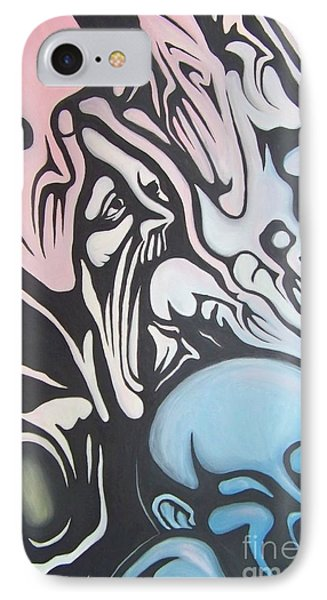 IPhone Case featuring the painting Intensity by Michael  TMAD Finney
