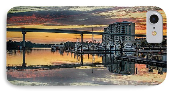 Intercoastal Waterway And The Wharf IPhone Case by Michael Thomas