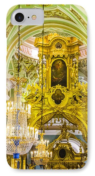 Interior - Cathedral Of Saints Peter And Paul - St Petersburg Russia IPhone Case by Jon Berghoff