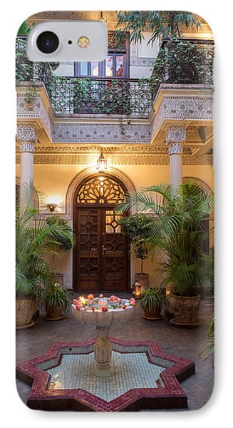 Interior Courtyard Of Villa Des IPhone Case by Panoramic Images
