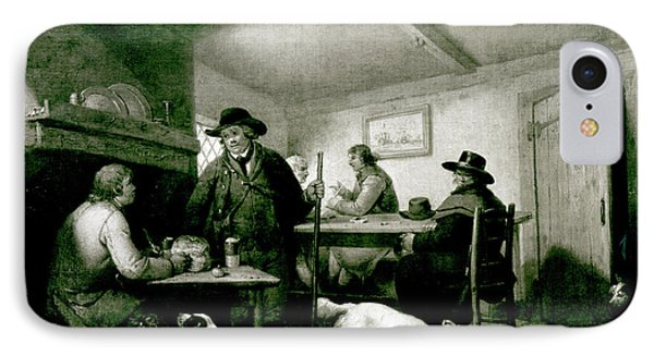 Interior Of A Country Inn Phone Case by George Morland