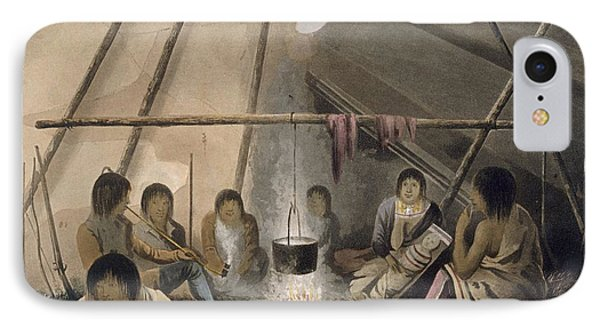 Interior Of A Cree Indian Tent, 1824 IPhone Case