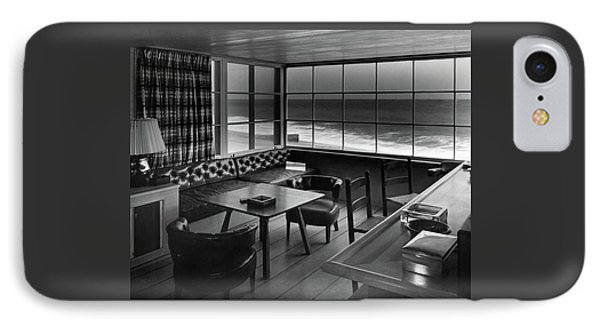 Interior Of Beach House Owned By Anatole Litvak IPhone Case by Fred R. Dapprich