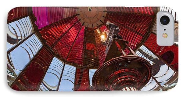 Interior Of Fresnel Lens In Umpqua Lighthouse IPhone Case