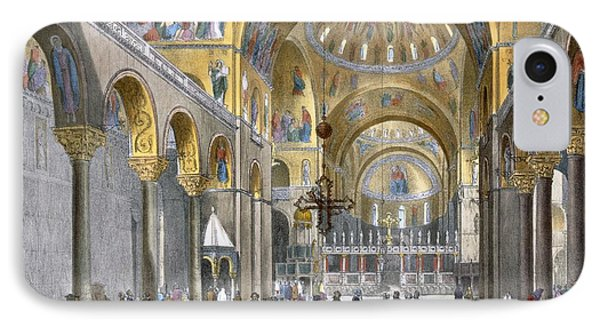 Interior Of San Marco Basilica, Looking IPhone Case by Italian School