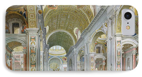 Interior Of St Peters In Rome Phone Case by Giovanni Paolo Panini