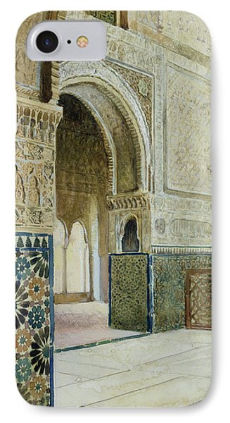 Interior Of The Alhambra  IPhone Case by French School