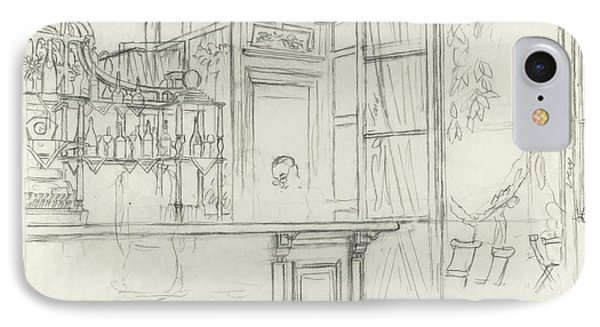 Interior Of The Grand Conde Bar IPhone Case by Carl Oscar August Erickson