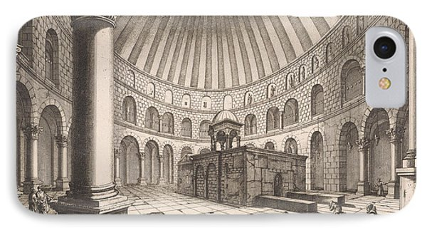 Interior Of The Holy Sepulchre In Jerusalem Israel IPhone Case