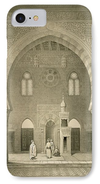 Interior Of The Mosque Of Qaitbay, Cairo IPhone Case by French School