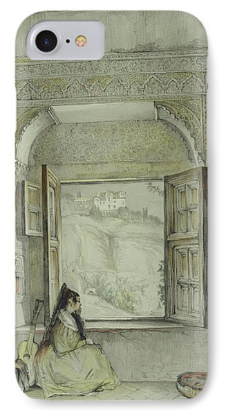 Interior Of The Palace At Madura IPhone Case by Thomas Daniell