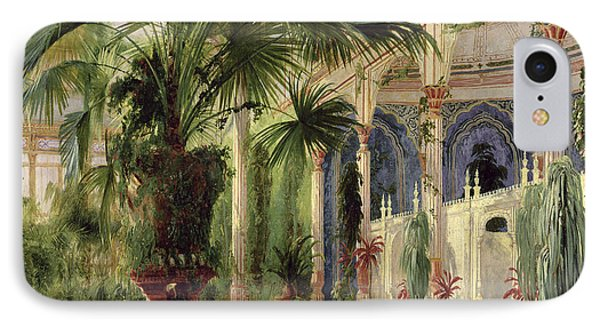 Interior Of The Palm House At Potsdam IPhone Case by Karl Blechen