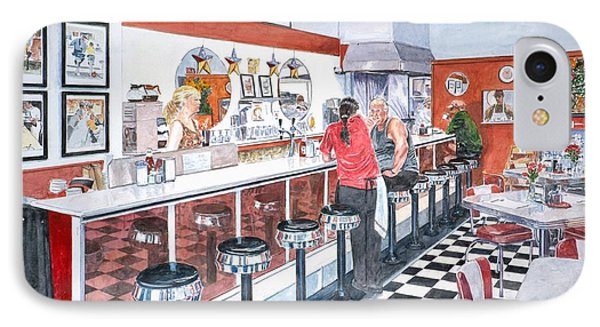 Interior Soda Fountain IPhone Case by Anthony Butera