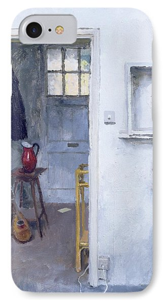 Interior With Red Jug Phone Case by Charles E Hardaker
