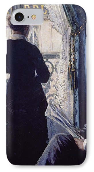 Interior Woman At The Window Phone Case by Gustave Caillebotte