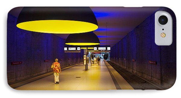 Interiors Of An Underground Station IPhone Case by Panoramic Images