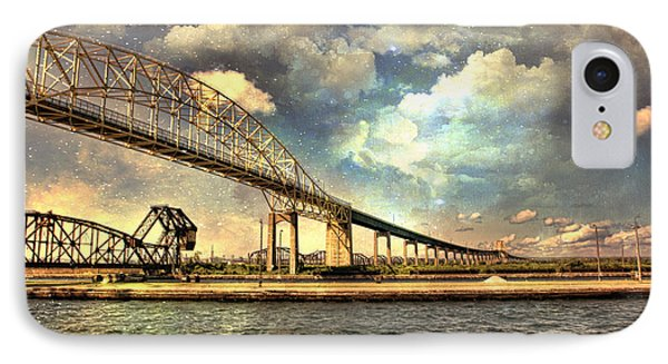 International Bridge Sault Ste Marie IPhone Case by Evie Carrier