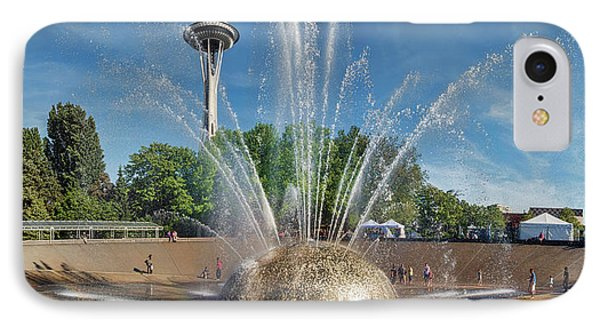 International Fountain With Space IPhone Case by Panoramic Images