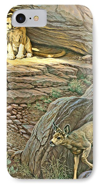 Interruption-cougar And Fawn IPhone Case