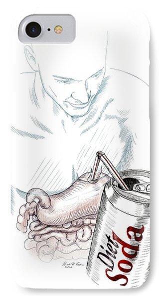Intestinal Taste Receptors IPhone Case by Nicolle R. Fuller