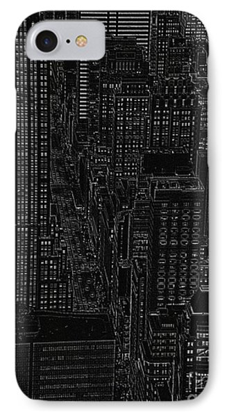 Into Nyc White On Black Phone Case by Meandering Photography