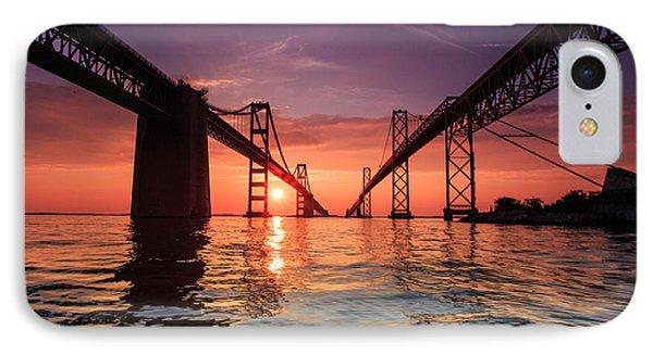Into Sunrise - Bay Bridge IPhone Case by Jennifer Casey