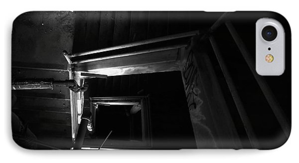 Into The Abyss - Bw IPhone Case by James Aiken