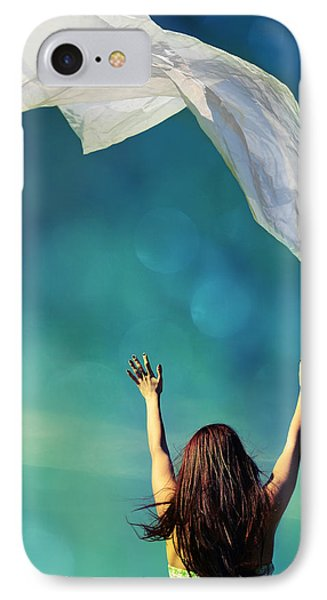 Into The Atmosphere IPhone Case by Laura Fasulo