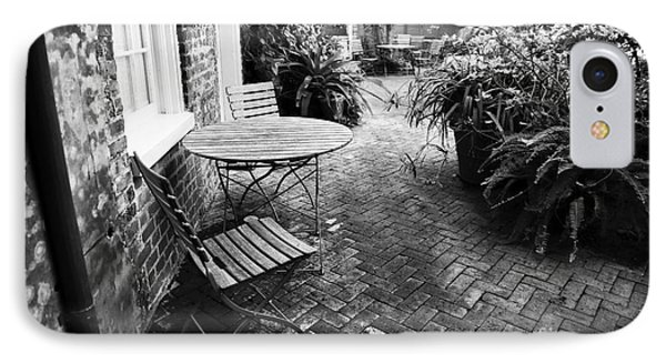 Into The Courtyard IPhone Case by John Rizzuto