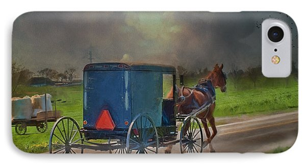 Into The Storm IPhone Case by Kathy Jennings