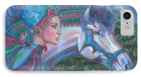IPhone Case featuring the painting Into The Storm by Suzanne Silvir