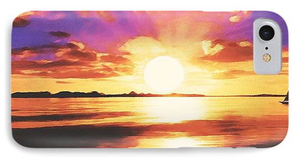 IPhone Case featuring the painting Into The Sunset by Sophia Schmierer