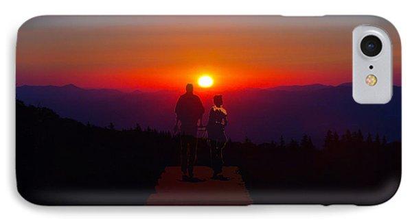 Into The Sunset Together Phone Case by John Haldane