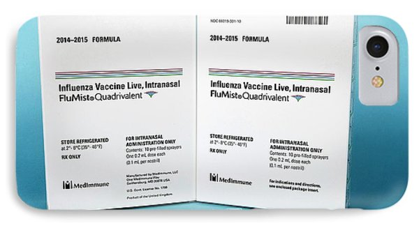 Intranasal Flumist Vaccine And Packaging IPhone Case by Cdc