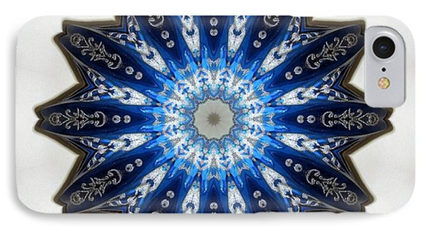 Intricate Shades Of Blue Phone Case by Renee Trenholm