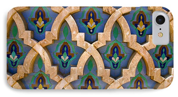 Intricate Zelji At The Hassan II Mosque Sour Jdid Casablanca Morocco IPhone Case by Ralph A  Ledergerber-Photography