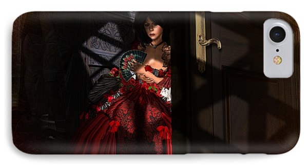IPhone Case featuring the digital art Intrigue by Kylie Sabra