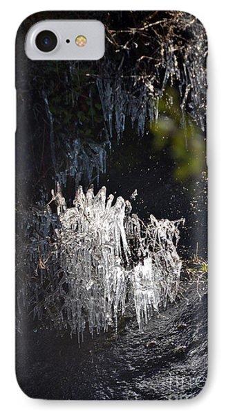 Intriguing Icicles In Yosemite IPhone Case by Debra Thompson