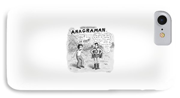 Introducing...anagraman A Man Screams IPhone Case by Roz Chast