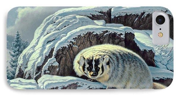 Intrusion -  Badger Phone Case by Paul Krapf
