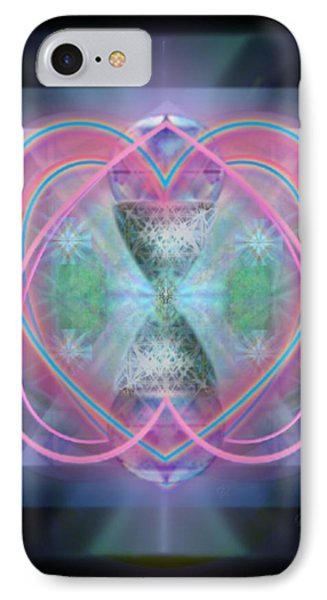 IPhone Case featuring the digital art Intwined Hearts Chalice Enveloping Orbs Vortex Fired by Christopher Pringer