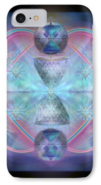 Intwined Hearts Chalice Shimmering Turquoise Vortexes Phone Case by Christopher Pringer
