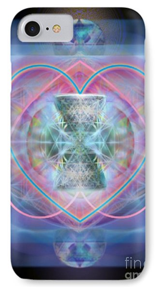 Intwined Hearts Chalice Wings Of Vortexes Radiant Deep Synthesis Phone Case by Christopher Pringer