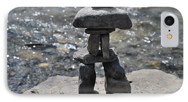 Inukshuk By The Water IPhone Case