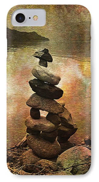 Inukshuk - Northern Lights Night IPhone Case