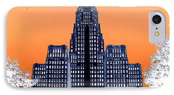 Inverted Buffalo City Hall IPhone Case by Jim Lepard