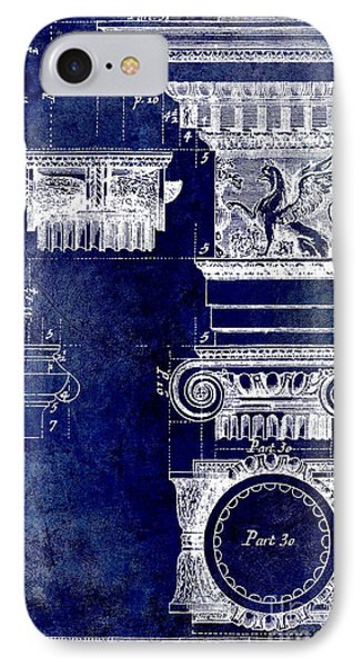 Ionic Capitol Blue IPhone Case by Jon Neidert