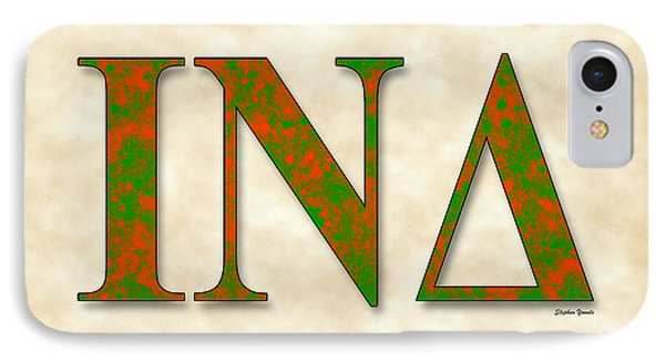 Iota Nu Delta - Parchment IPhone Case by Stephen Younts