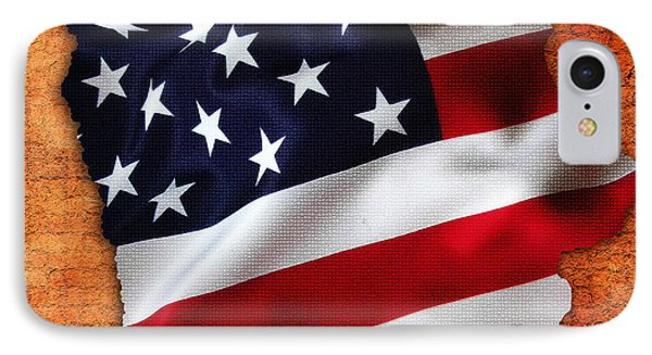 Iowa American Flag State Map IPhone Case