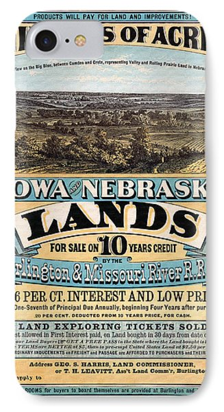 Iowa And Nebraska Lands - 1872 IPhone Case
